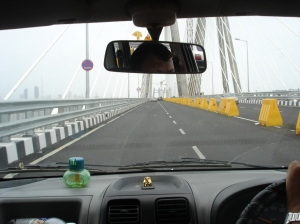 Sea link entrance from Bandra side